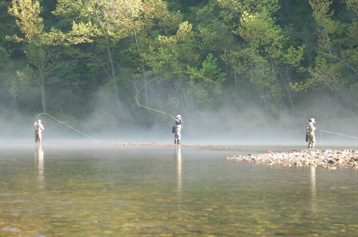 fishing in Eureka Springs, Arkansas