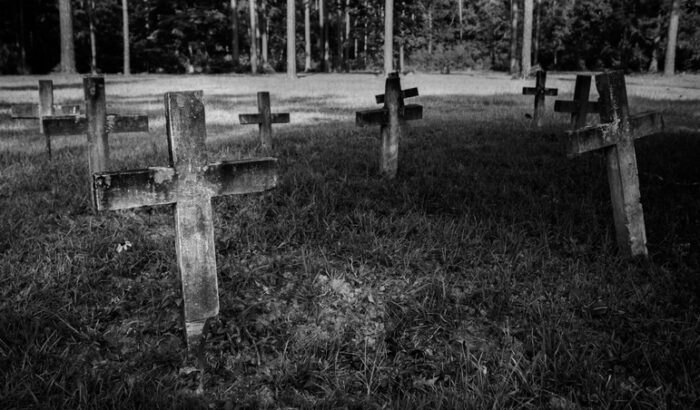 Cemetery- Blakeley State Park, Spanish Fort, Alabama. Graves of settlers of town of 19th century town of Blakeley, Alabama.