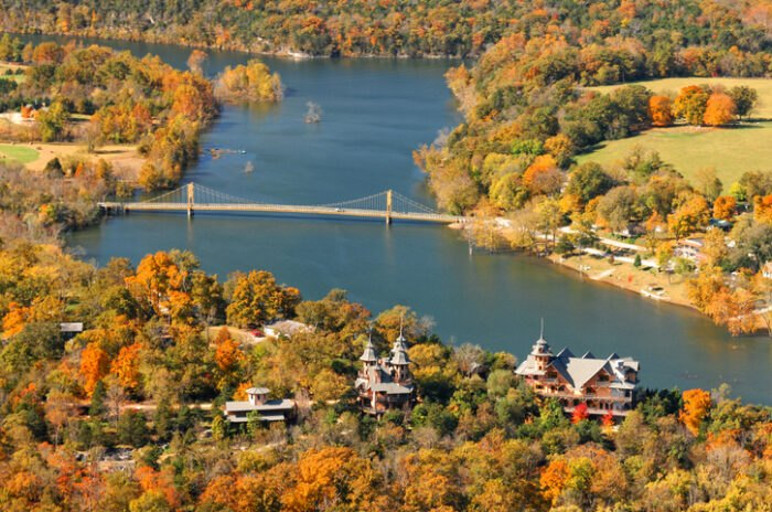 bird's-eye-view of Eureka Springs, Arkansas