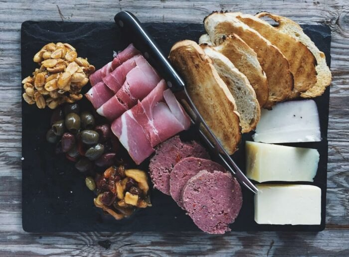 charcuterie board at Harvest Moon Craft Kitchen