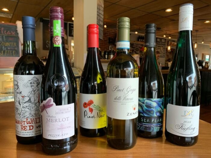 wine selection at Harvest Moon Craft Kitchen