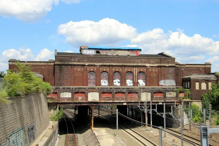 view of the Pawtucket-Central Falls Railway Station in Rhode Island