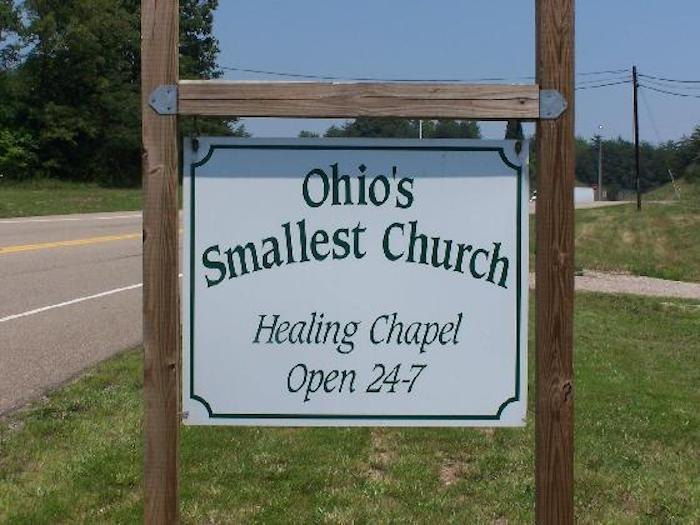 the sign of The Healing Chapel in Ohio