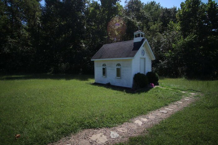 a side view of The Healing Chapel in Ohio