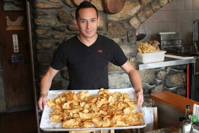 homemade chips at Beef Barn in Rhode Island