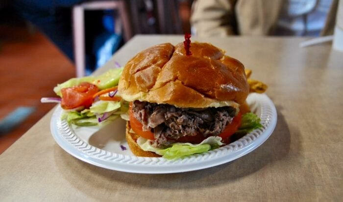 a roast beef sandwich from Beef Barn in Rhode Island