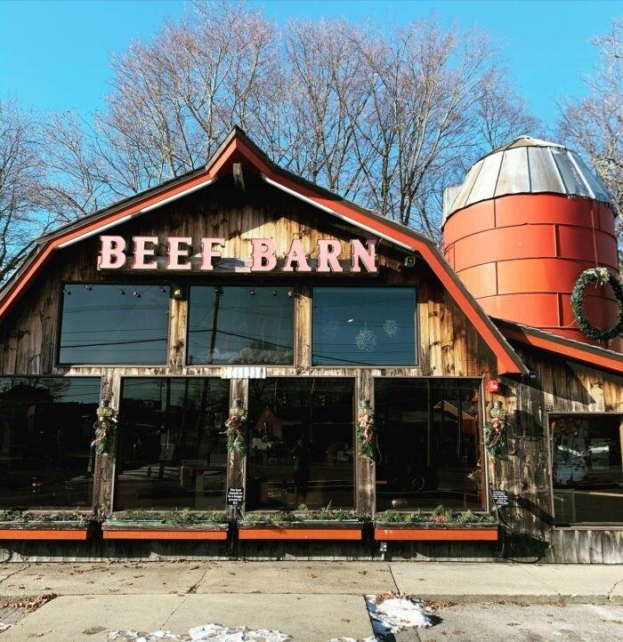 outside Beef Barn in Rhode Island