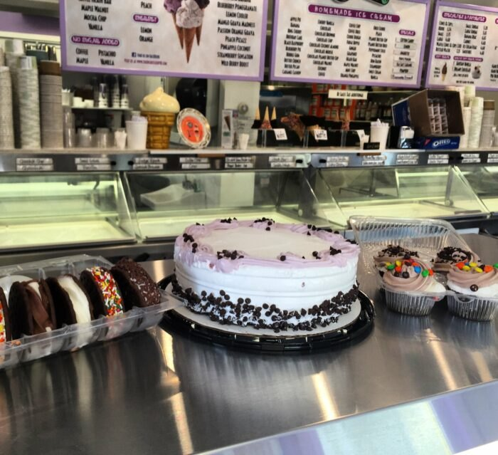 ice cream cakes at The Inside Scoop in Rhode Island