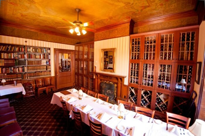 the dining room at The Library Restaurant in New Hampshire