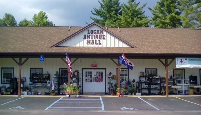 outside of Logan Antique Mall in Ohio
