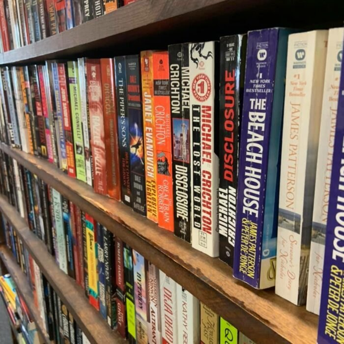books at Logan Antique Mall in Ohio