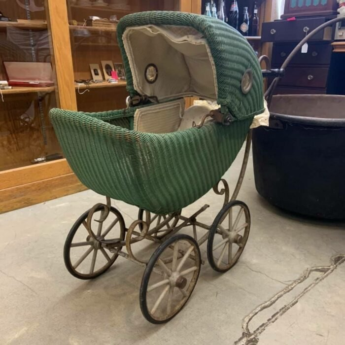 a baby's carriage in Logan Antique Mall in Ohio