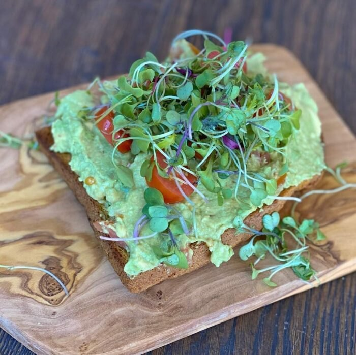 avocado toast from Sejuiced in Southern California