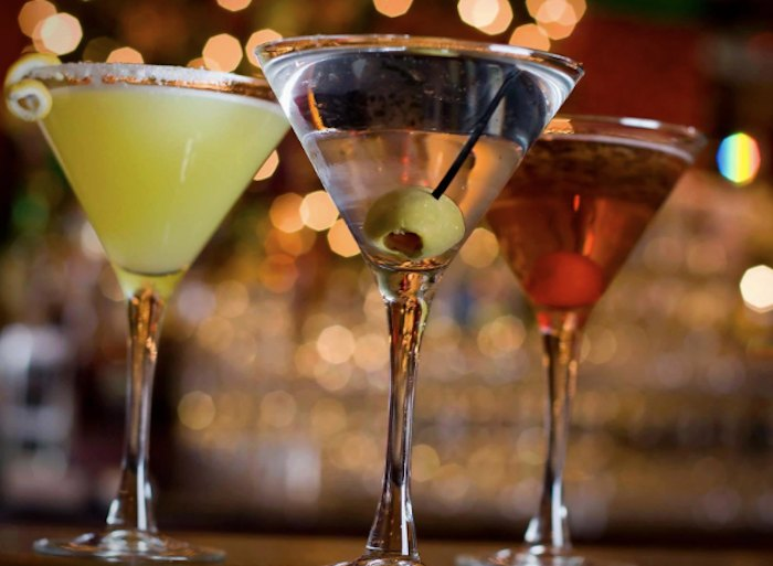 martinis at The Library Restaurant in New Hampshire