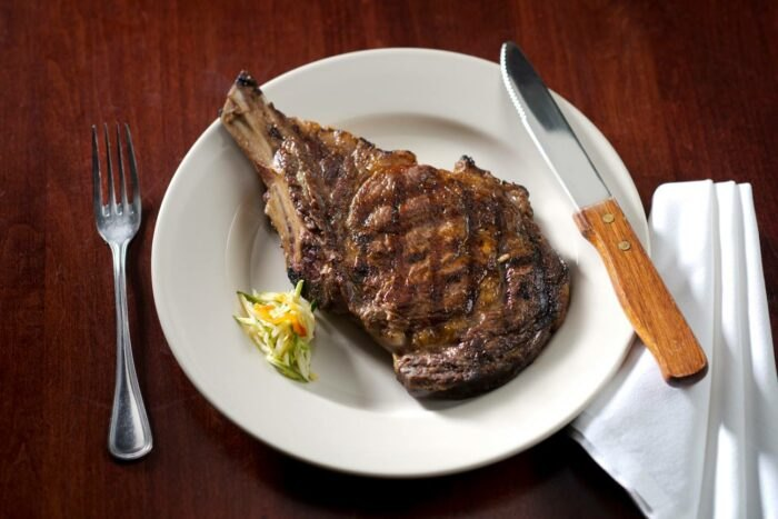 steak at The Library Restaurant in New Hampshire