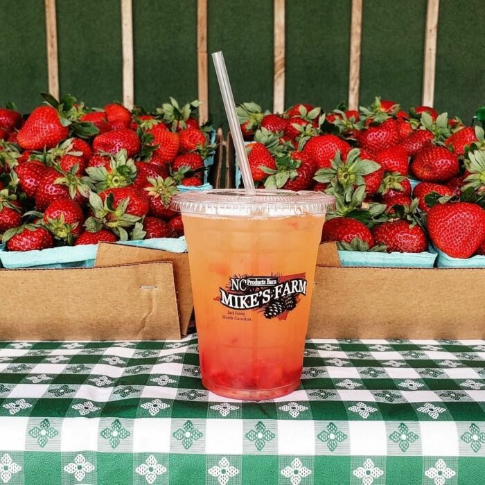 fresh drinks from Mike's Farm in North Carolina