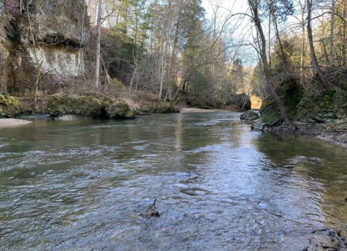 running water near Kamelands Trail in Ohio