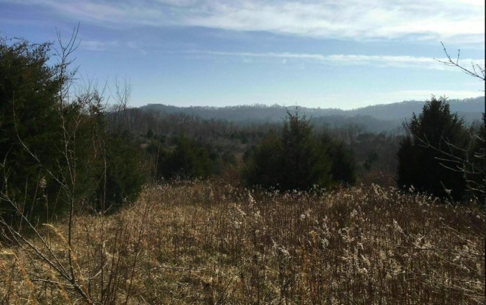 a mountain view from Kamelands Trail in Ohio