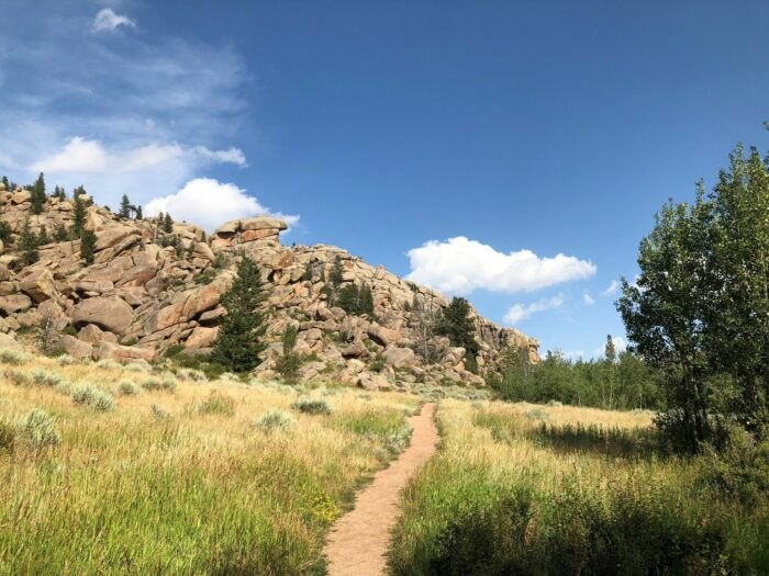 sunny day on Turtle Rock Loop Trail in Wyoming