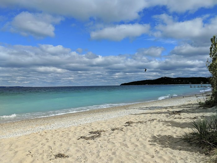 This Hidden Beach In Michigan Has Some Of The Bluest Water In The State