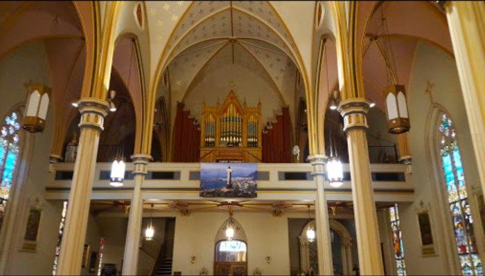 the balcony of St. Joseph's Parish in Texas