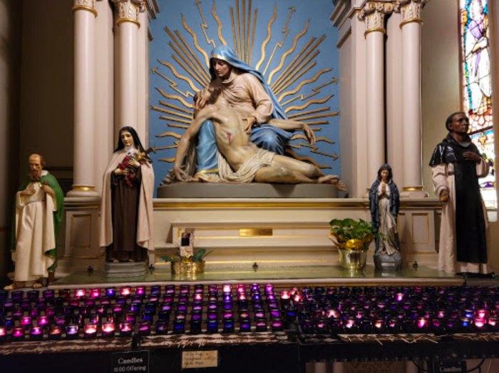 candles at St.Joseph's Parish in Texas