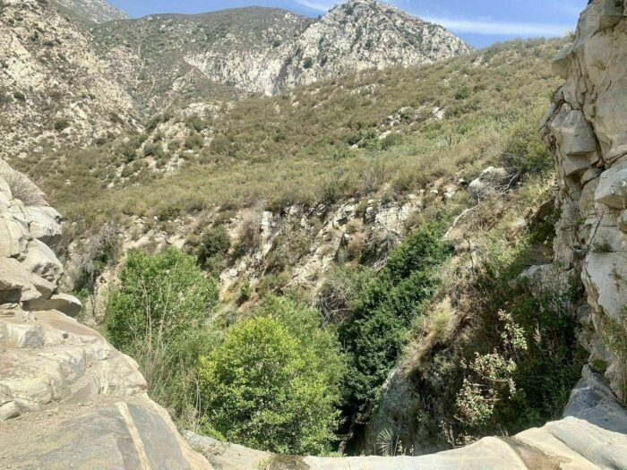 mountain view on Trail Canyon Falls in California