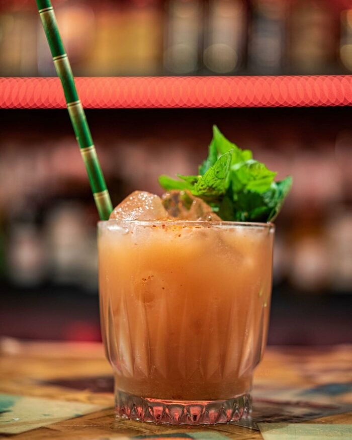 fun cocktail at Bootlegger Tiki
