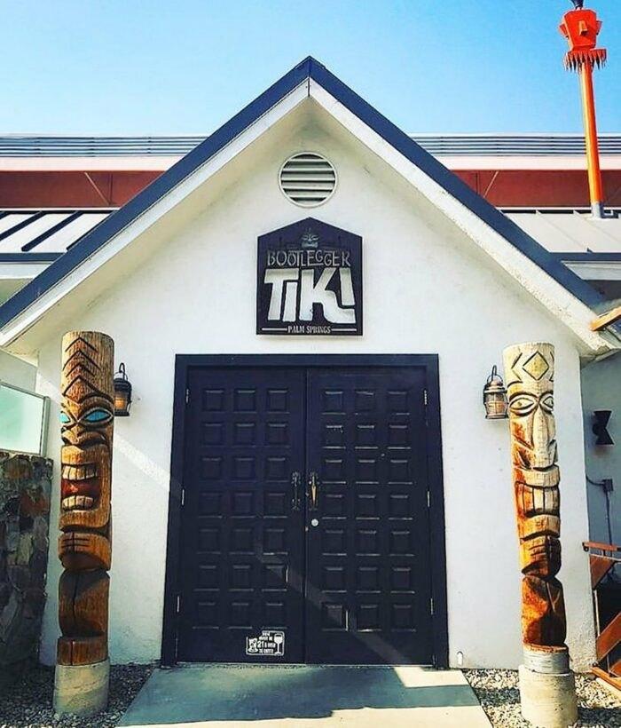 outside Bootlegger Tiki