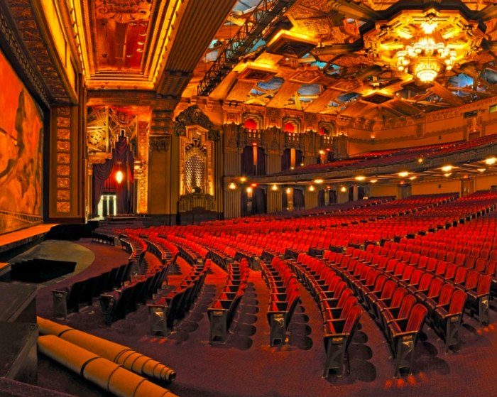 the seating at Pantages Theatre in Hollywood