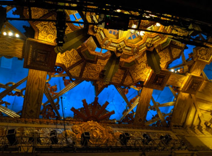 the ceiling of Pantages Theatre in Hollywood