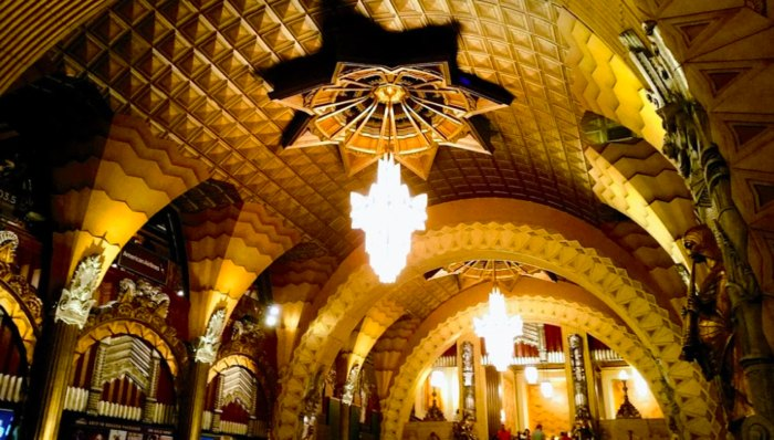 archways of Pantages Theatre in Hollywood