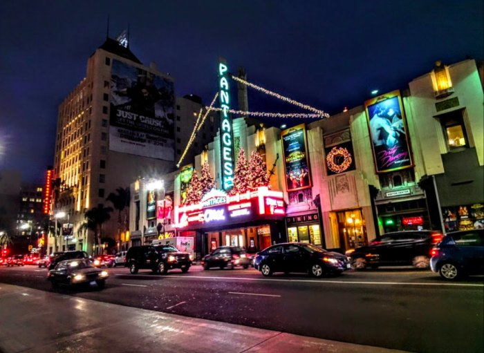 outside of Pantages Theater in Hollywood