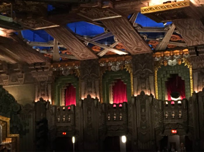 the balcony of Pantages Theatre in Hollywood