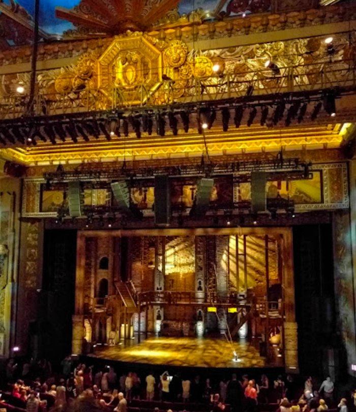 the stage at Pantages Theater in Hollywood