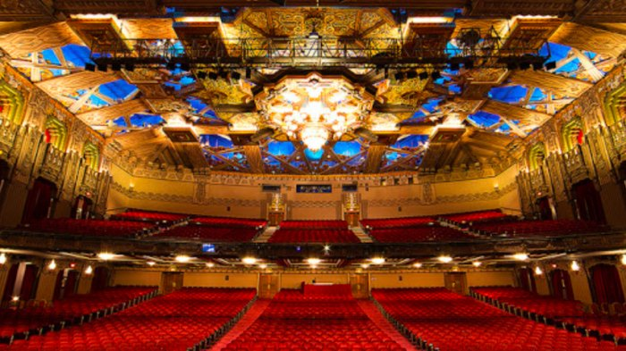 inside of Pantages Theater in Hollywood