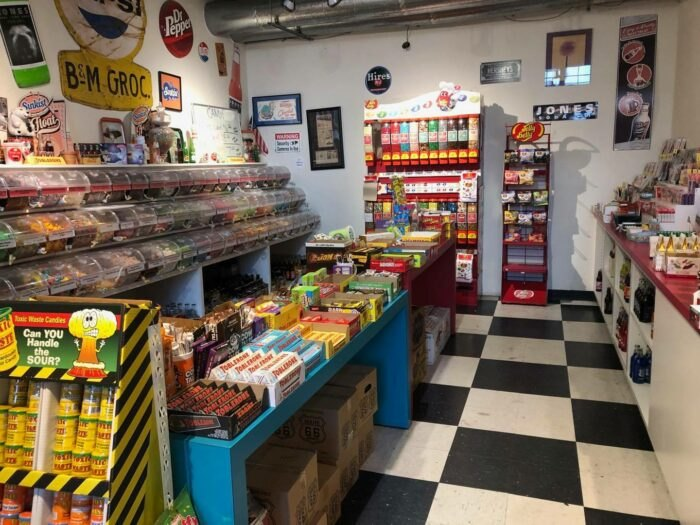 inside Bricktown Candy Co in Oklahoma