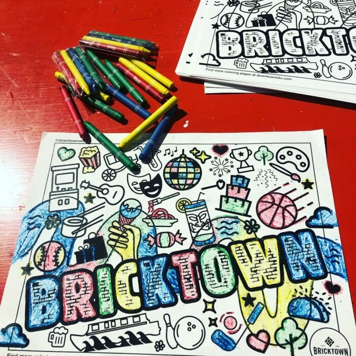 coloring at Bricktown Candy Company in Oklahoma
