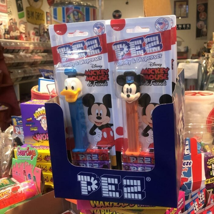 Pez candies at Bricktown Candy Co in Oklahoma