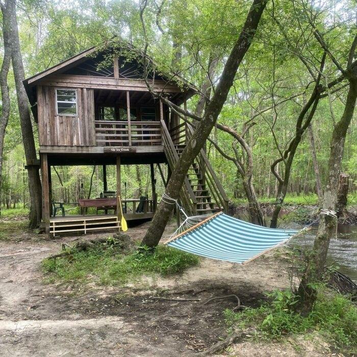 hammock outside of treehouse in South Carolina