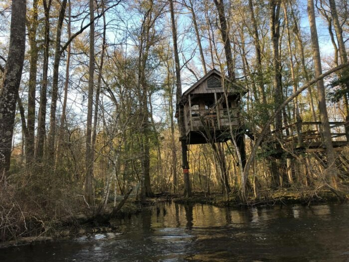 outside view of treehouse in South Carolina