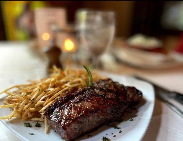 steak at Tuscany Restaurant in Utah
