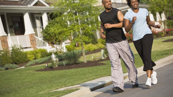 Jogging is a form of moderate-intensity aerobic exercise that provides you with many physical, mental and even social benefits. Some of the benefits of jogging won't show up for weeks, while other benefits can be enjoyed more quickly. Before you start a new jogging program, speak to your doctor to make sure you proceed in a way that's best for you.