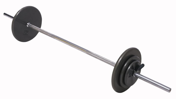 A barbell is an ideal exercise device for senior citizens. It's easy to use, can work out every part of the body and can be adapted to any fitness level. A barbell is simply a steel bar with removable weight plates, usually metal, on each end. You can do the same exercises with just the bar or with one loaded with many pounds of weight, to fit your conditioning and your goals. Check with your doctor before starting any exercise program.
