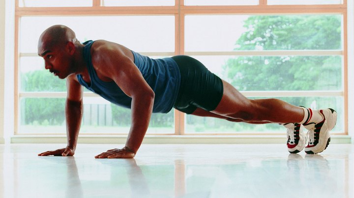 The best exercise for the abs and pecs without the use of equipment is the push-up and the many variations of it, including the Plank, the knees-down push-up and the yoga push-up. Without the use of equipment, the push-up workout uses your own body weight to add the resistance you would normally find from weights or a machine. The more you contract your muscles, the more resistance you add.