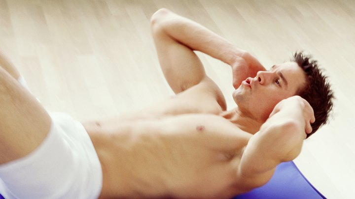 Abdominal crunches are similar to situps, except you only lift your upper back and shoulders off the floor rather than sitting completely upright. The abdominal muscles that perform the abdominal crunch are the rectus abdominus, transverses abdominus, and the obliques. Speak to your doctor before doing abdominal crunches as part of an exercise routine.