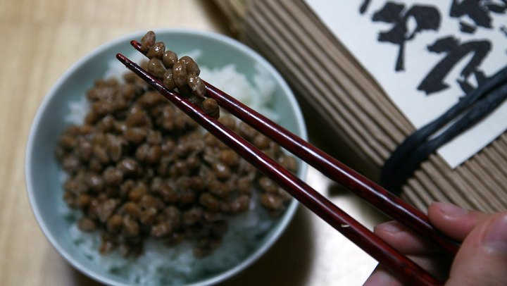 Natto has enjoyed a prominent place in Japanese cuisine for centuries, but it wasn't commercially produced in the United States until the 1960s. Since it's simply fermented soybeans, natto retains their nutritional benefits, including a good dose of potassium. It makes a healthy addition to your meal plan because most Americans don't get sufficient potassium in their diets.