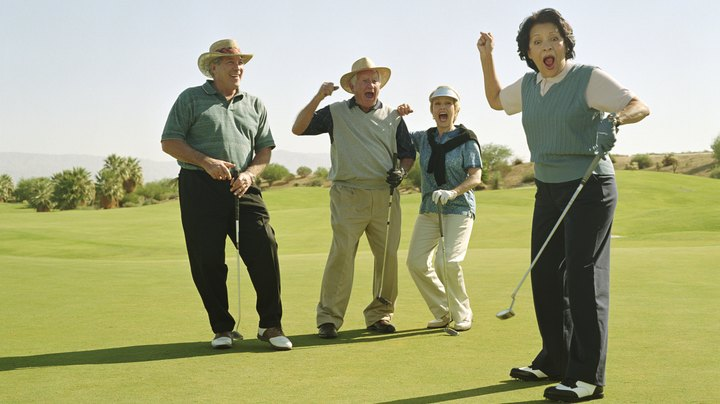 A scramble is a stroke play golf tournament format in which a team of players -- typically three or four -- all tee off, then one player's shot is selected as the team's official stroke. All team members then play their second shots from the selected location. Play continues in this manner until one team member holes out. The team with the lowest score after nine or 18 holes wins the tournament. There are several ways in which scramble events can incorporate golf's handicap system.