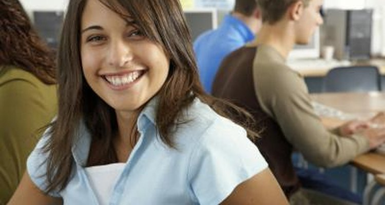 Smiling young female student