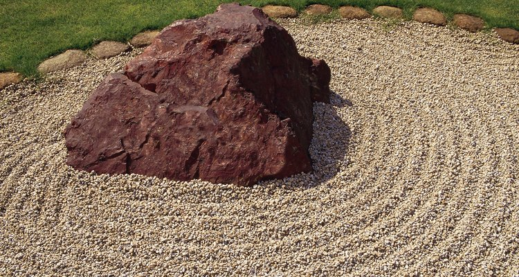 Rock gardens are considered a form of art in Japan.